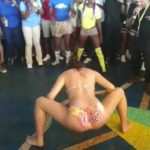 Nerdy Pregnant White Lady Jumps In Twerk Competition And Wins.