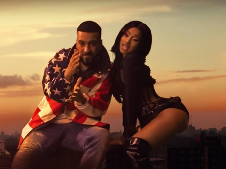 "French Montana - Ft. Post Malone & Cardi B ""Writing on the Wall""."