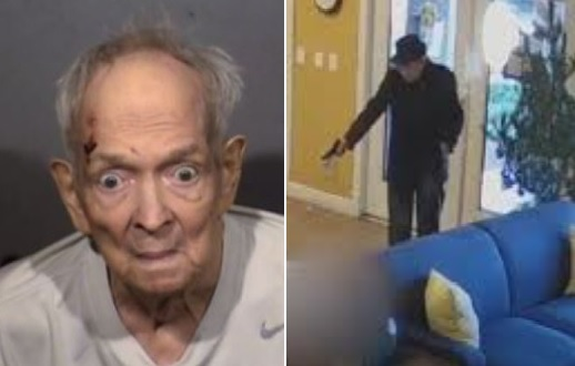Video shows 93-year-old Robert Thomas pulling a gun out and shooting an apartment maintenance manager over water issues.