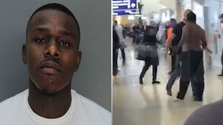 New Video Shows DaBaby Attacking Airport Food Stand Employee.