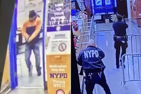 Gunman Who Opened fire Inside NYPD Precinct Seen Handcuffed To Hospital Bed