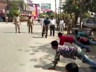 Indian Police Punish Lock Down Violators With Push-Ups
