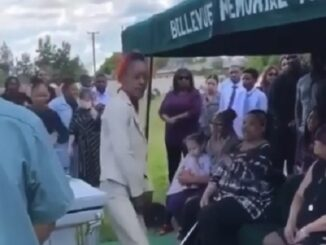 Video shows women getting kicked out of Funeral by family for trying to twerk on mans casket before they put him underground.