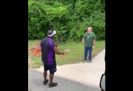 Georgia FedEx Drivers Get Cursed At By Racist Man For Being on his property.