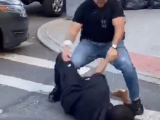 NYPD Cop placed on desk duty for punching bystander social distancing