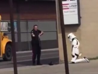 Police Take Down Girl In Storm Trooper Costume For Toy Blaster.
