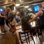 Brawl breaks out at steak house in little rock over social distancing.