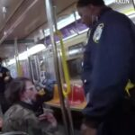 NYPD Cop Punch & Mace Homeless Man On Subway.