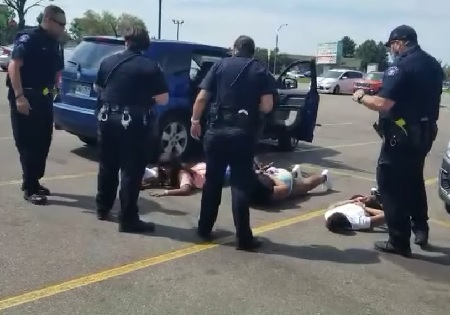 Aurora police apologize after handcuffing children in stolen car mix-up.