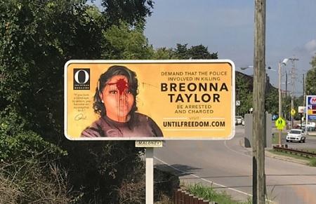 Breonna Taylor Billboard In Kentucky Vandalized
