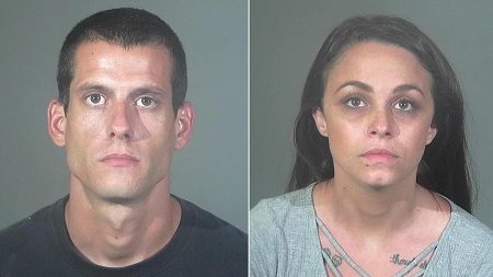 Couple arrested for hate crimes after attacking car with a shovel.