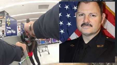Officer charged in fatal shooting of man wielding baseball bat inside Walmart.