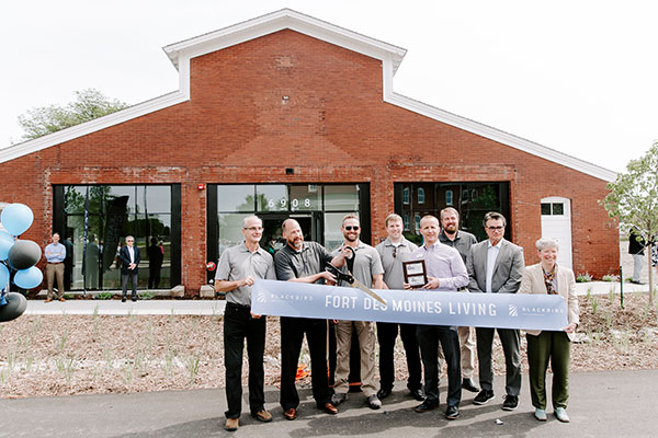 Blackbird team has ribbon-cutting for Fort Des Moines project