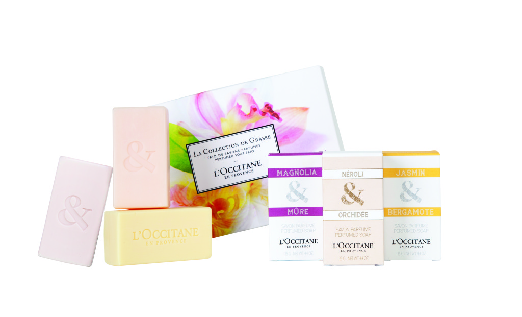 Collection de Grasse Soap Trio ($24): This trio of gentle cleansing soaps delights the senses with delicious fragrances from the Collection de Grasse fragrance line.