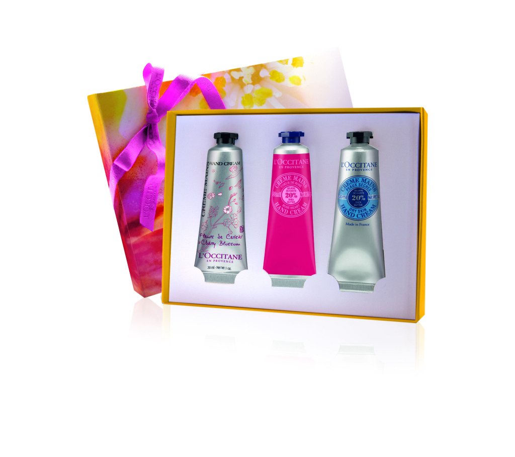 Hand Cream Trio ($28): Sample L'Occitane's iconic hand creams with this indulgent trio – perfect for a hard working Mom!