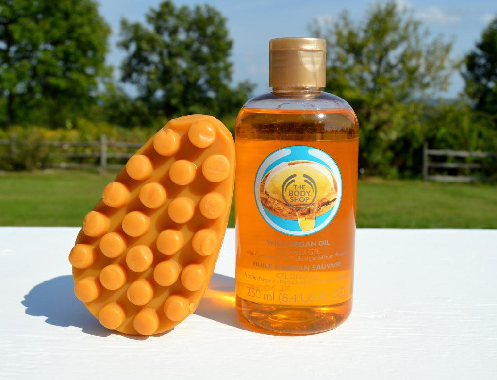 the body shop wild argan oil massage bar shower gel review inhautepursuit