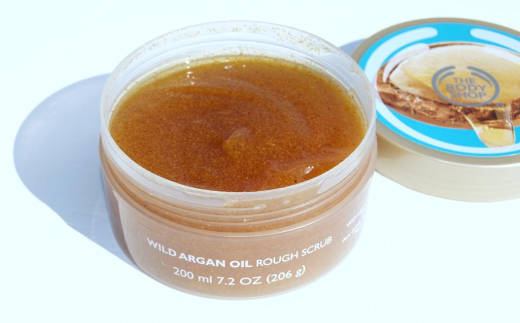 the body shop wild argan oil rough scrub body exfoliator review inhautpursuit