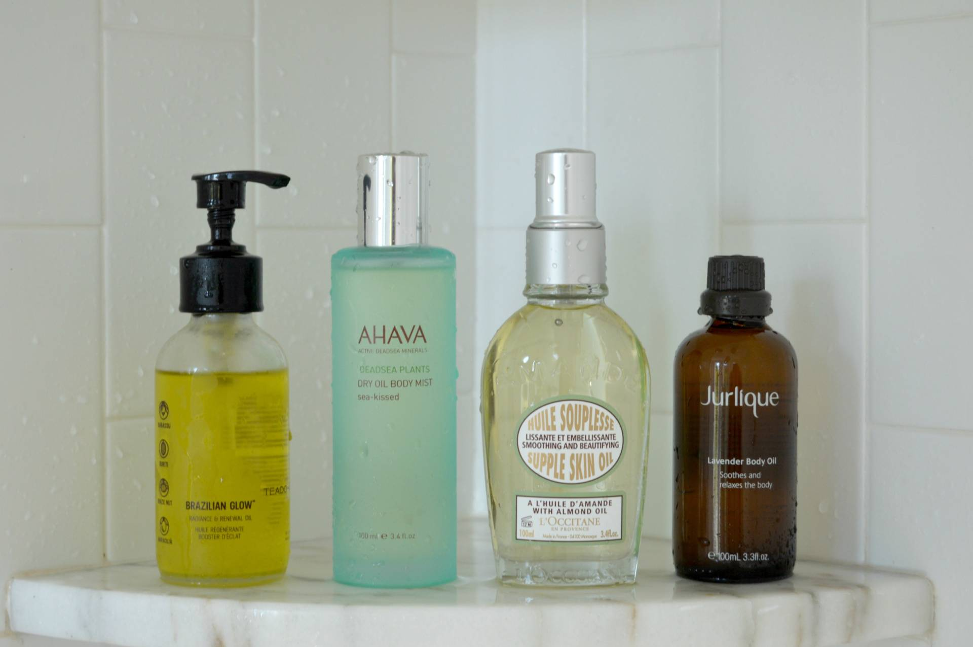 body oil edit inhautepursuit shower bath ahaha teadora loccitane jurlique