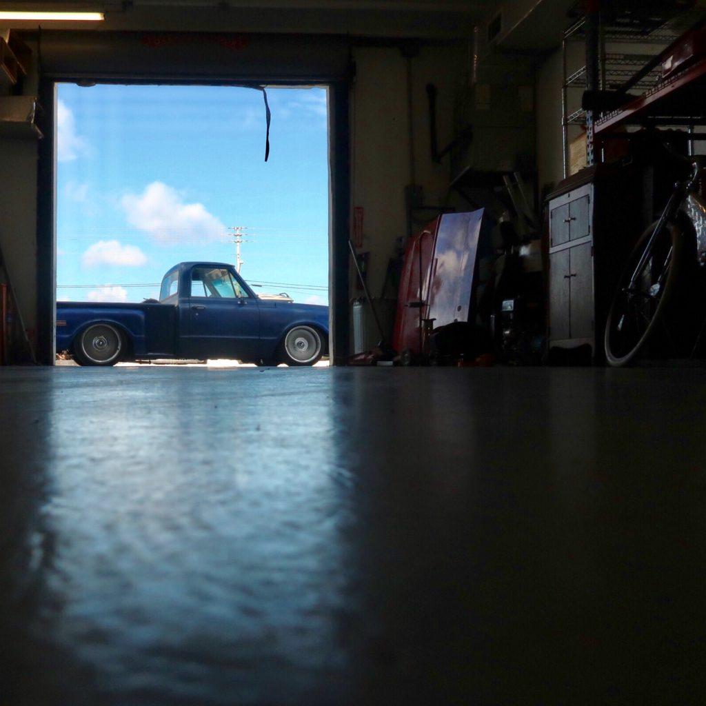1971 chevy c10, 1971 chevrolet, 1971 chevy, 1971 c-10, c10, c-10, chevy, classic chevy, chevrolet, overpower customs, overpower, customs, custom truck, street trucks, air ride, detroit steel wheels, detroit steel, steelies, patina trucks, patina truck, patina, blue truck, custom built, wood pickup bed,