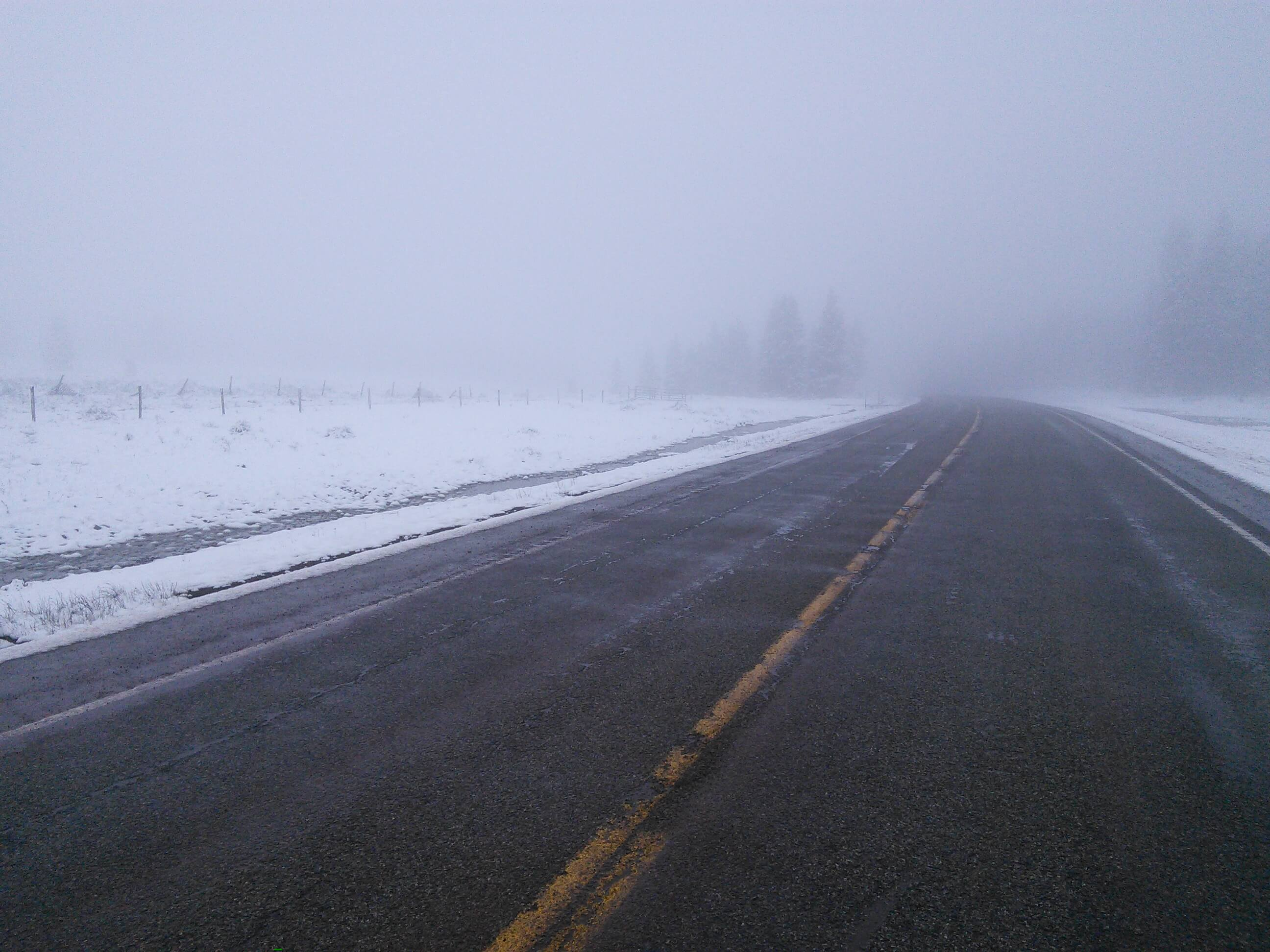 Snow on the way to Bloomfield, NM