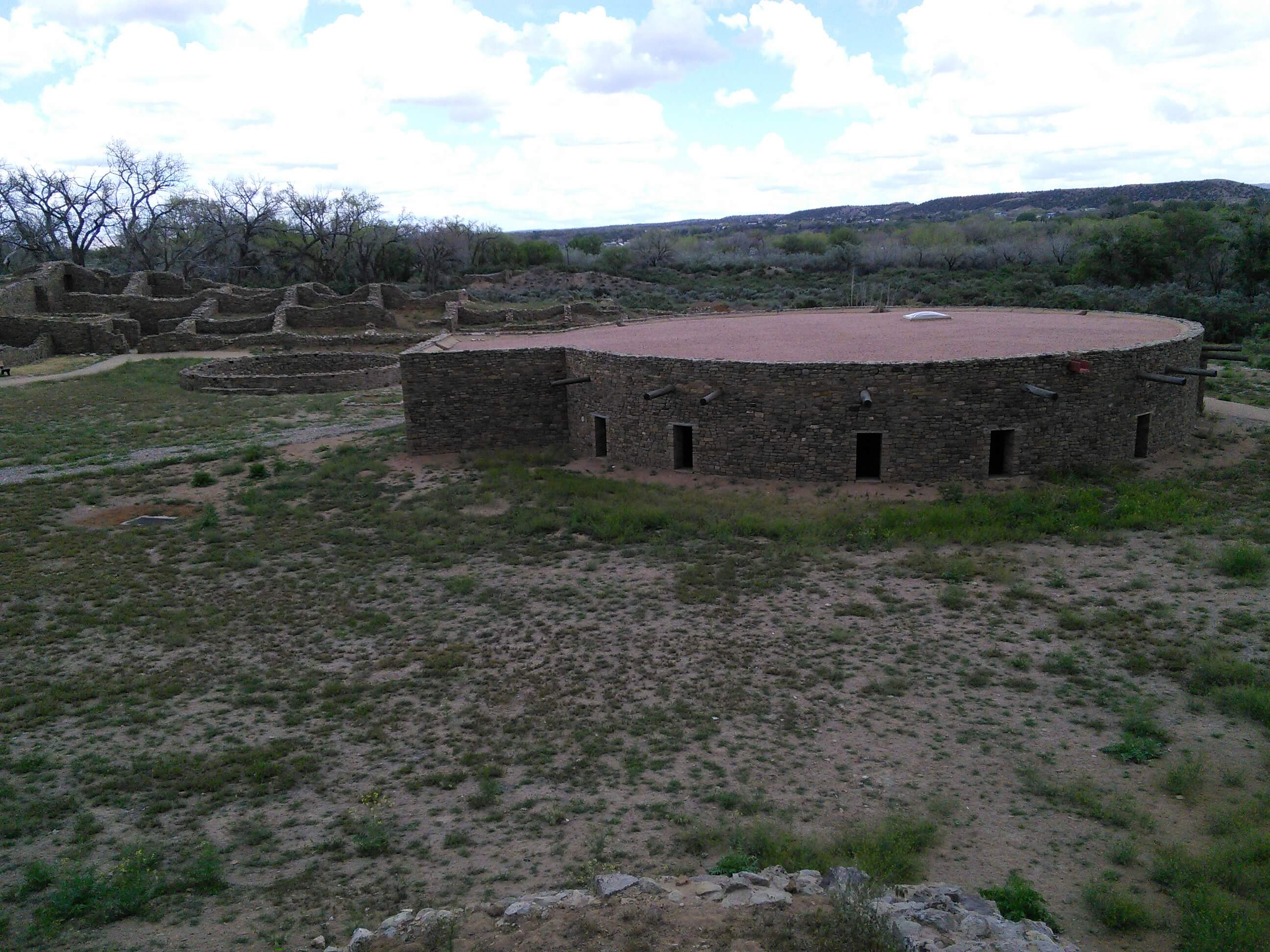 Reconstructed Kiva at Aztec Ruins National Monument, NM