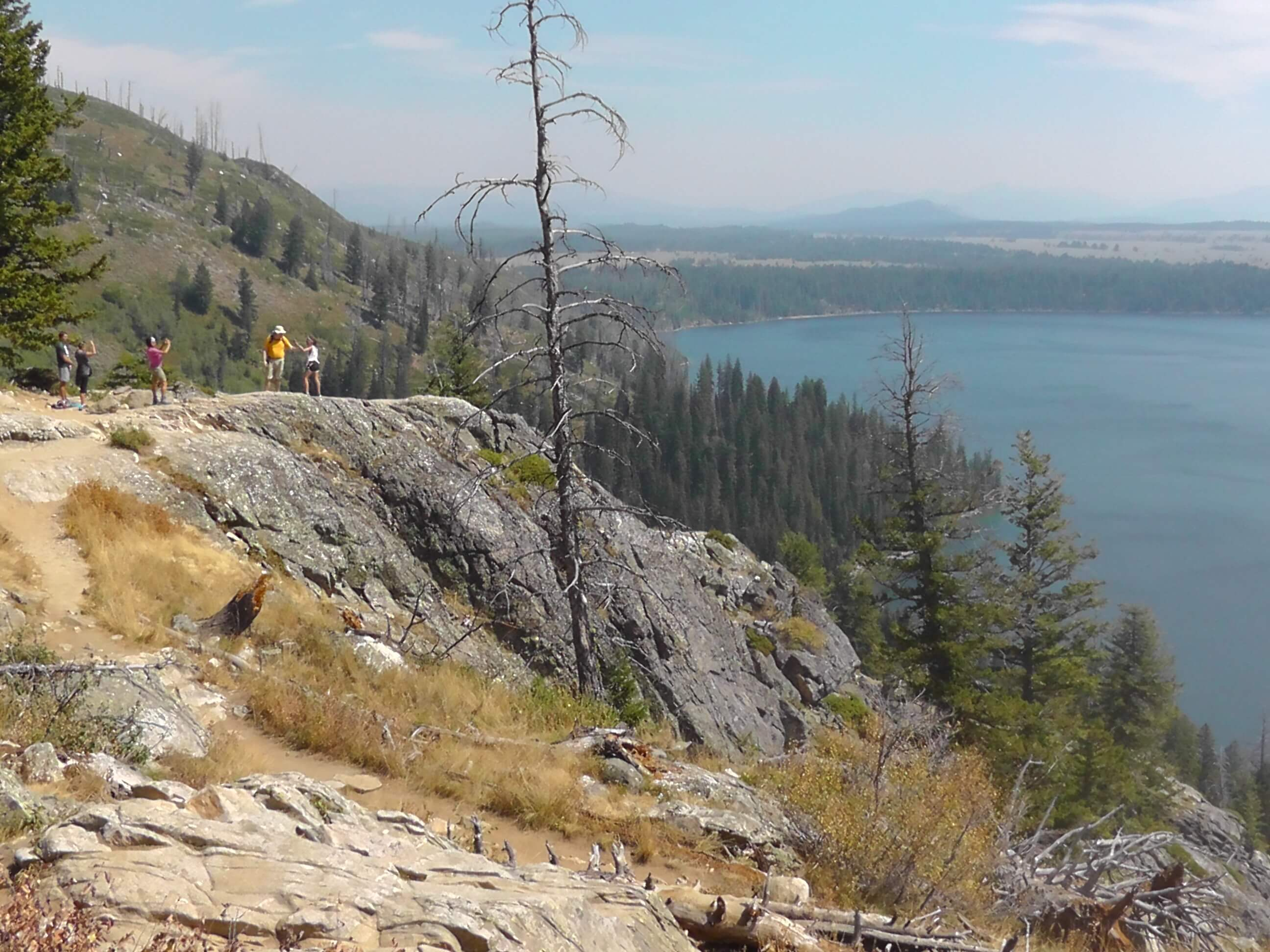 Jenny Lake from Inspiration Point, Grand Teton National Park, Wyoming