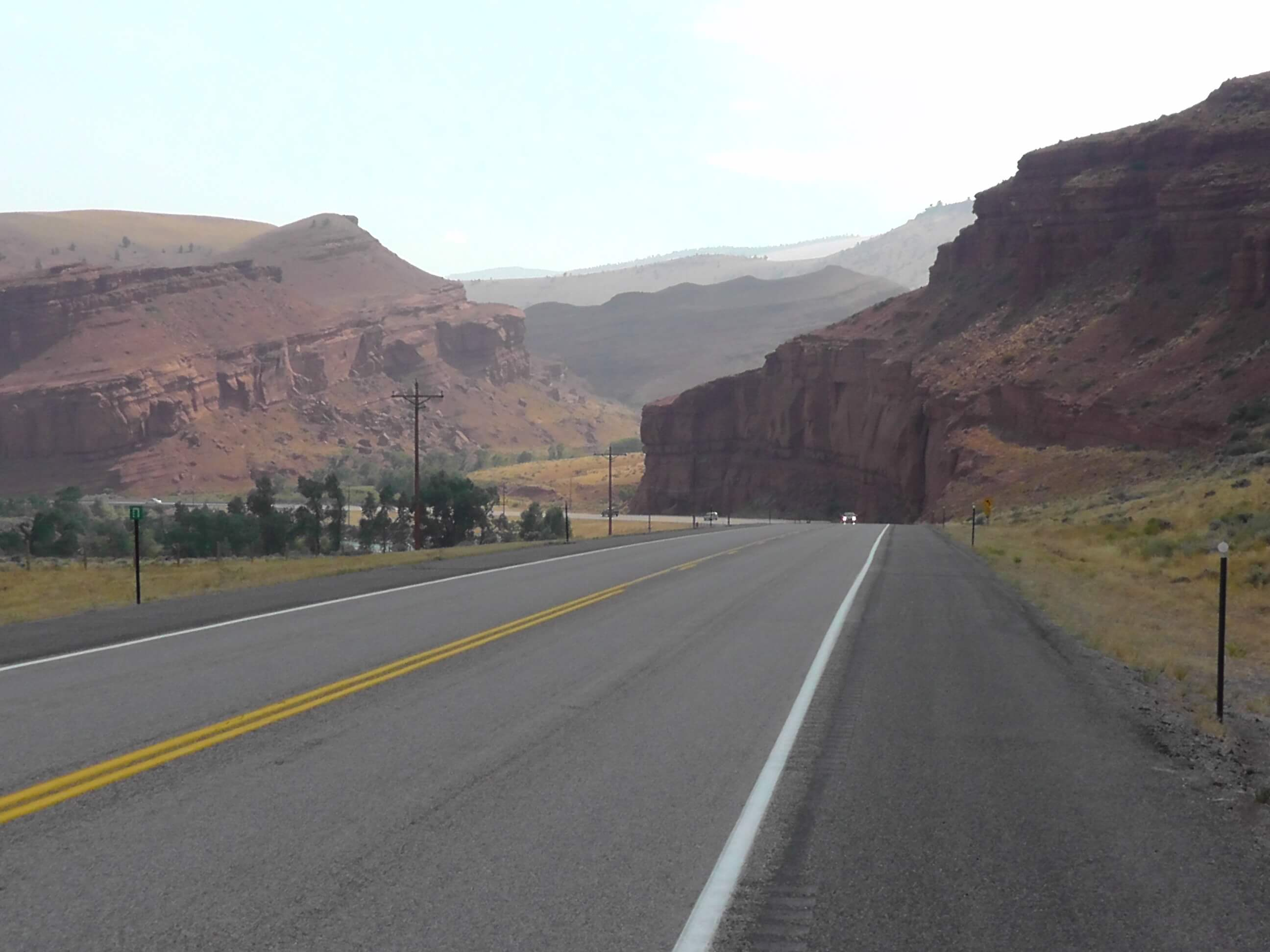 Cliffs along Highway 26, Wyoming
