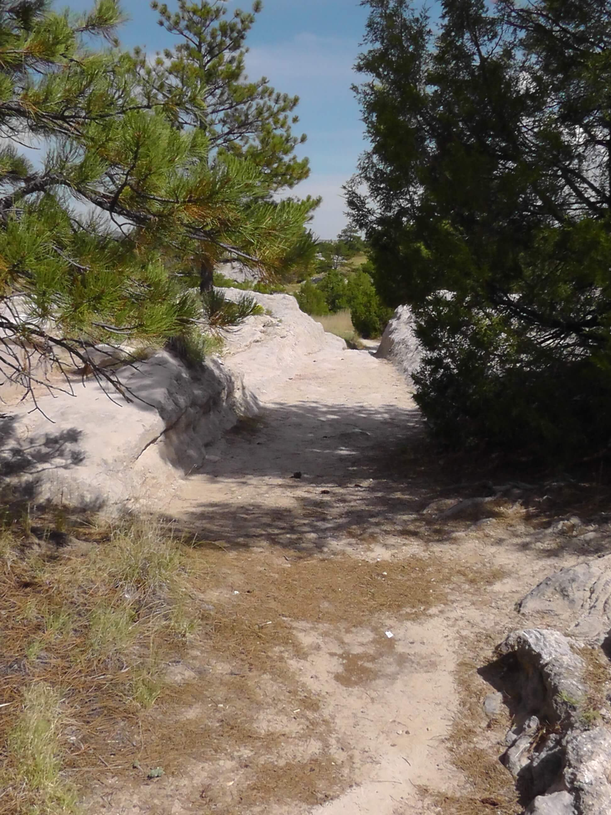 ruts in sandstone on the Oregon Trail, Guernsey, Wyoming