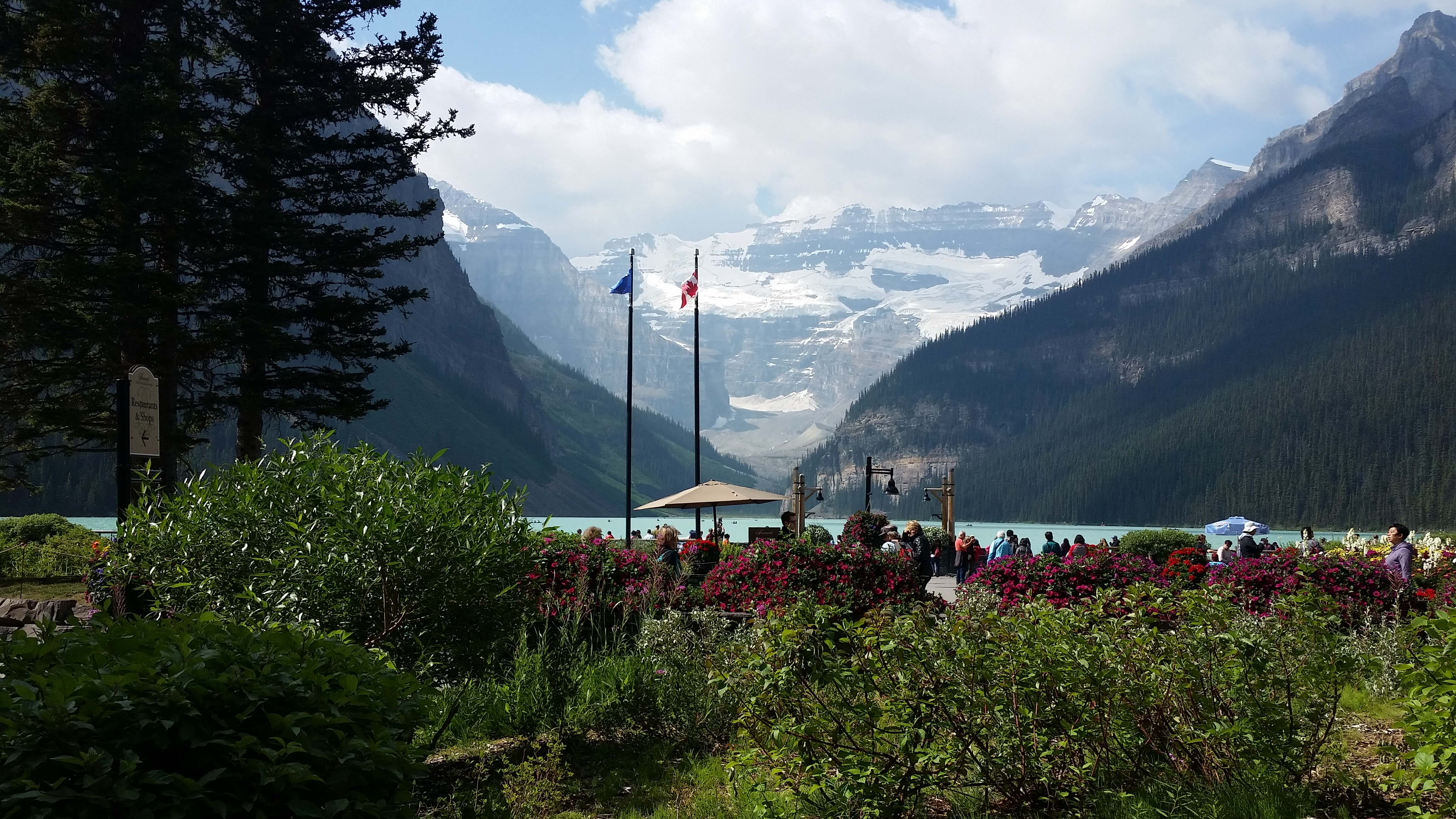 View from our Lunch table, Lake Louise, Banff National Park, Alberta