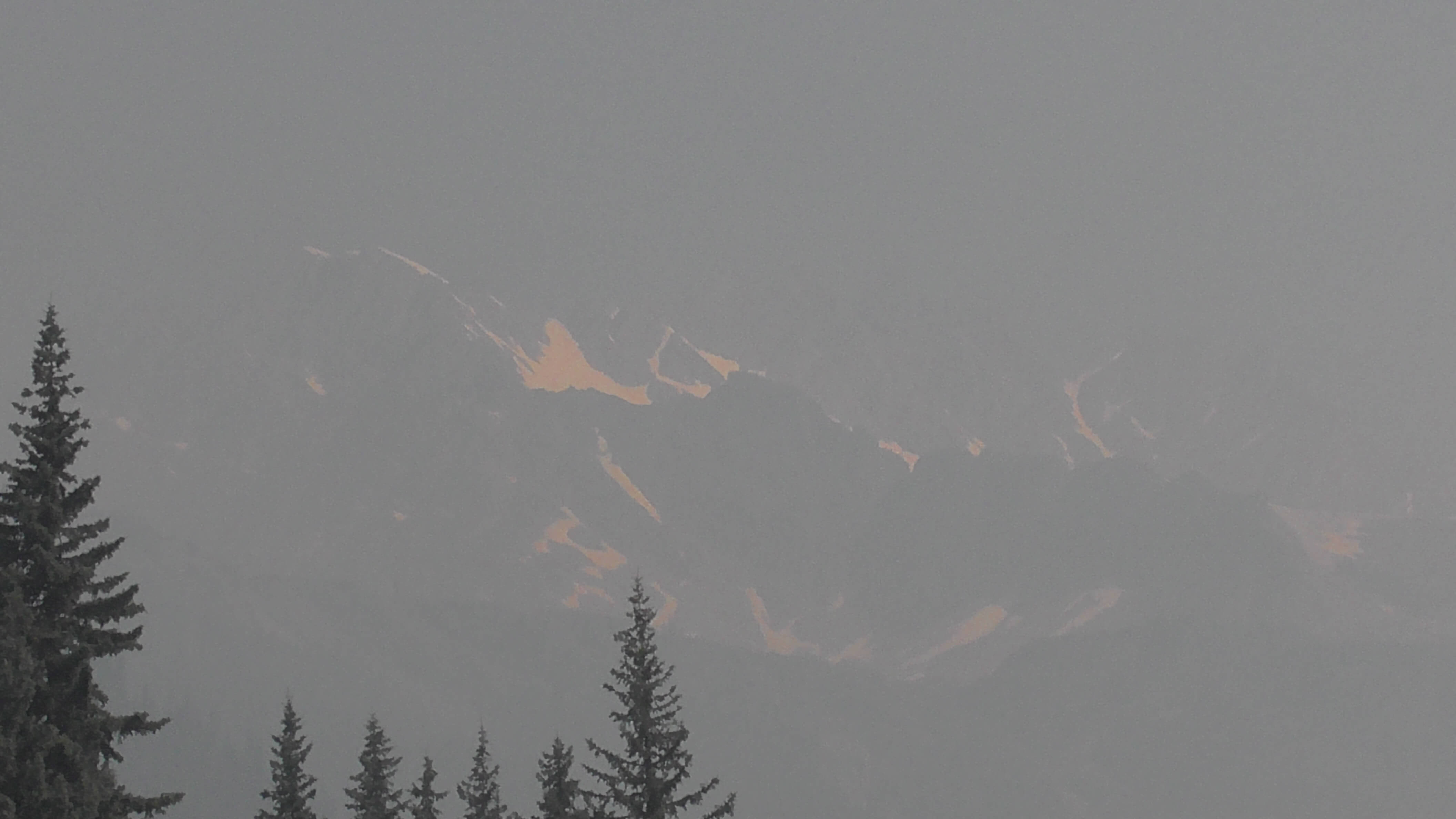 Forest Fire Smoke,Glacier National Park, British Columbia