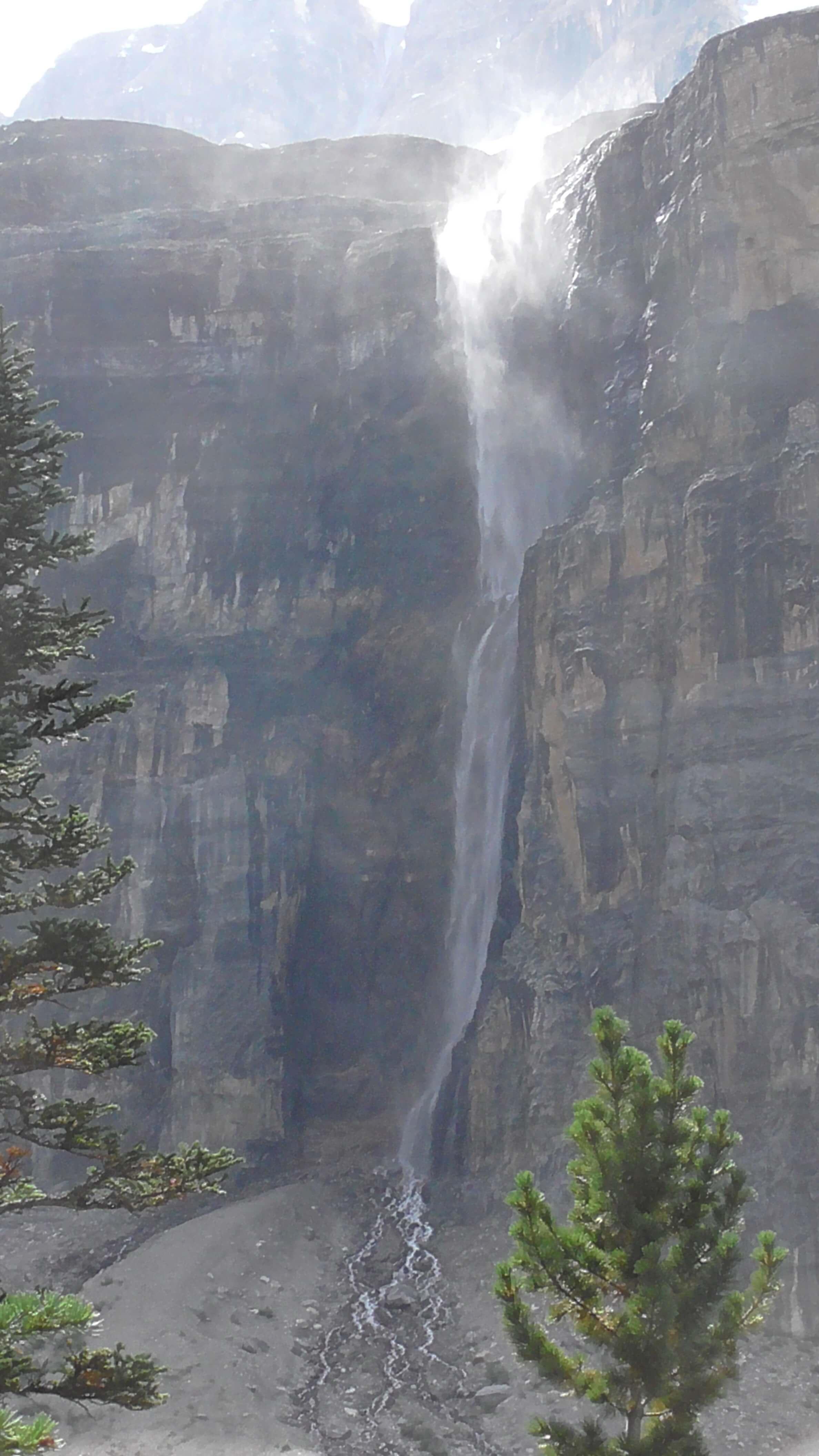 """Nemesis"" waterfall, Stanley Glacier, Kootenay National Park, British Columbia"