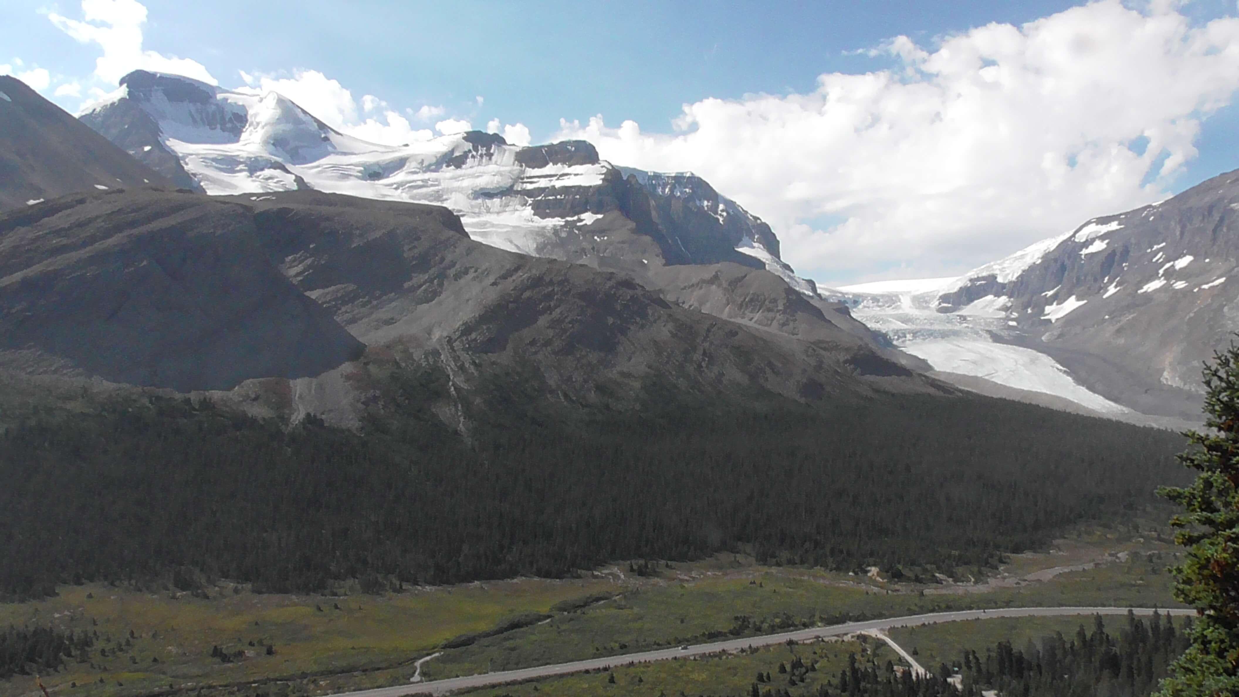 Hilda Glacier and Athabasca Glacier, Jasper National Park, Alberta
