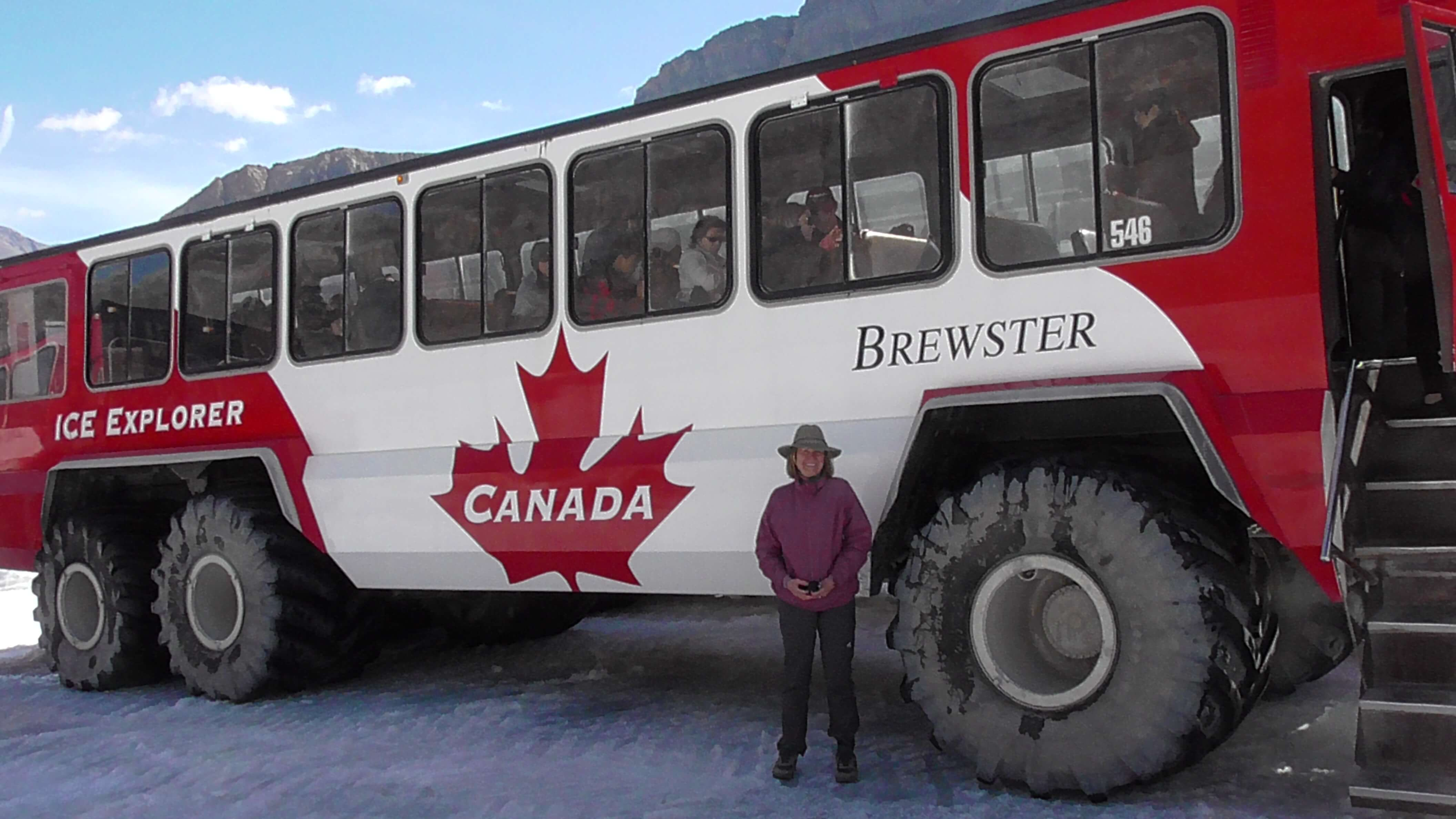 Terrabus on Athabasca Glacier, Jasper National Park, Alberta