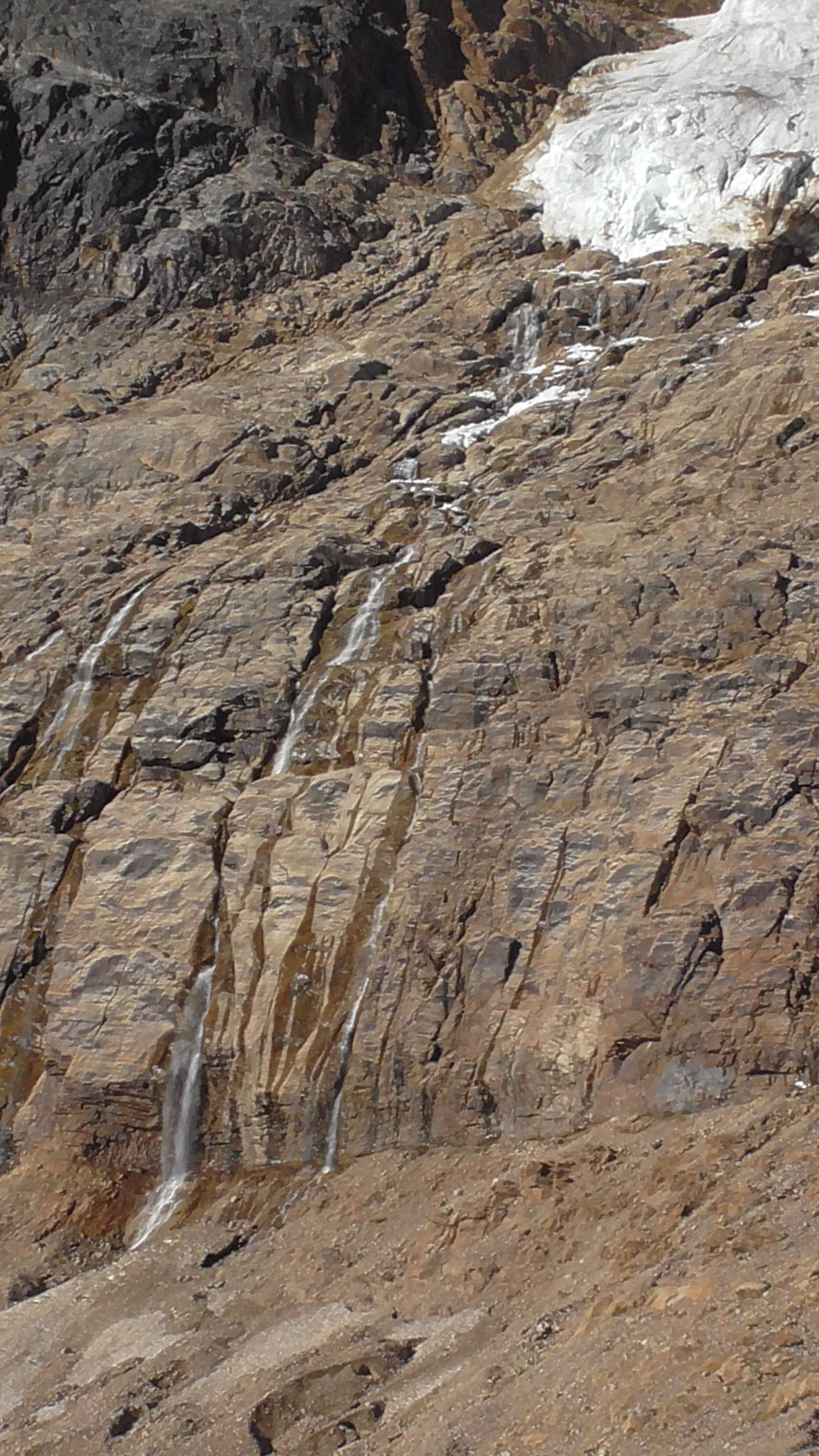 Falls below Angel Glacier, Mount Edith Cavell, Jasper National Park, Alberta