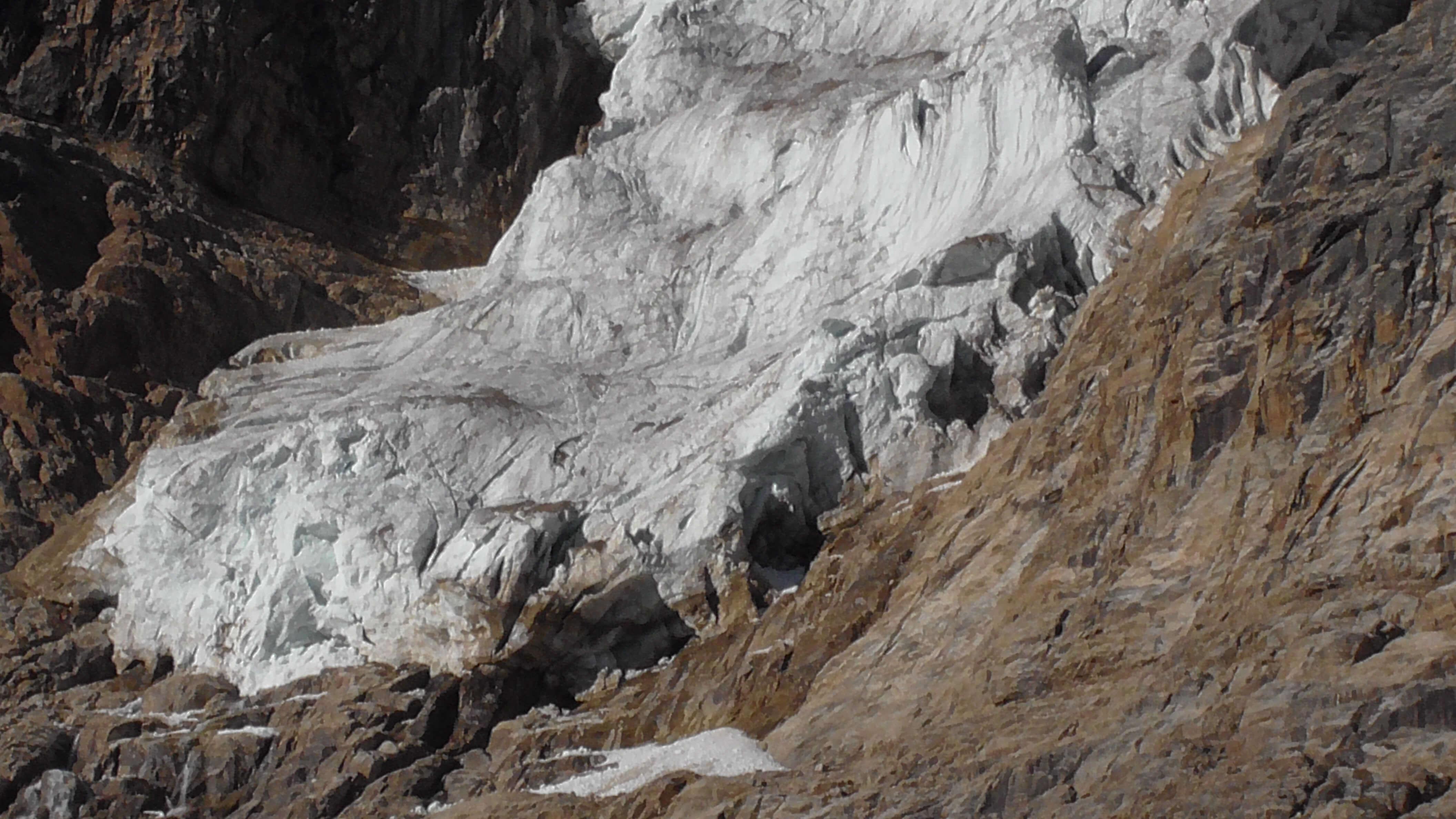 Toe of Angel Glacier, Mount Edith Cavell, Jasper National Park, Alberta