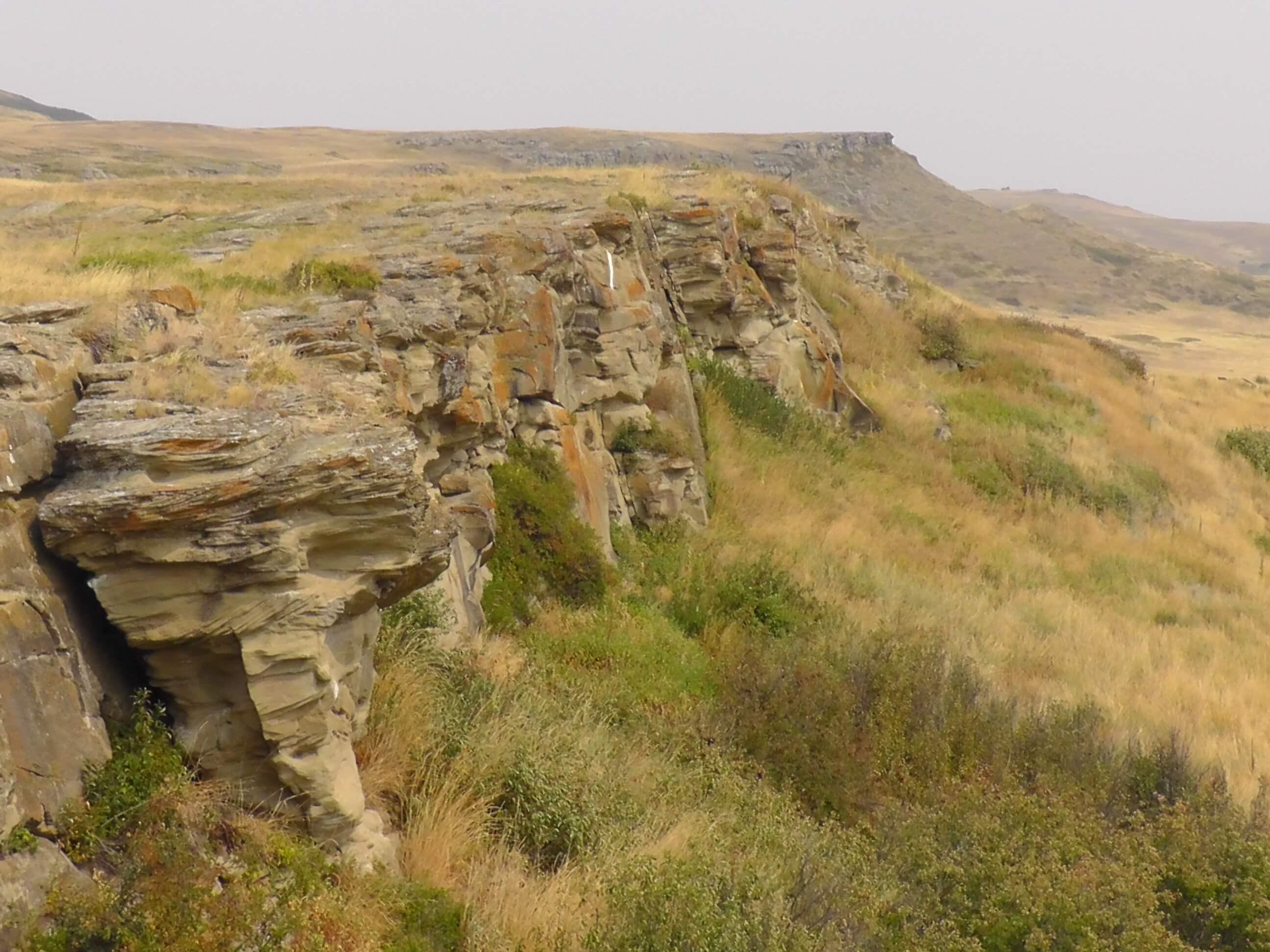 The cliff, Head-Smashed-In Buffalo Jump Interpretative Center