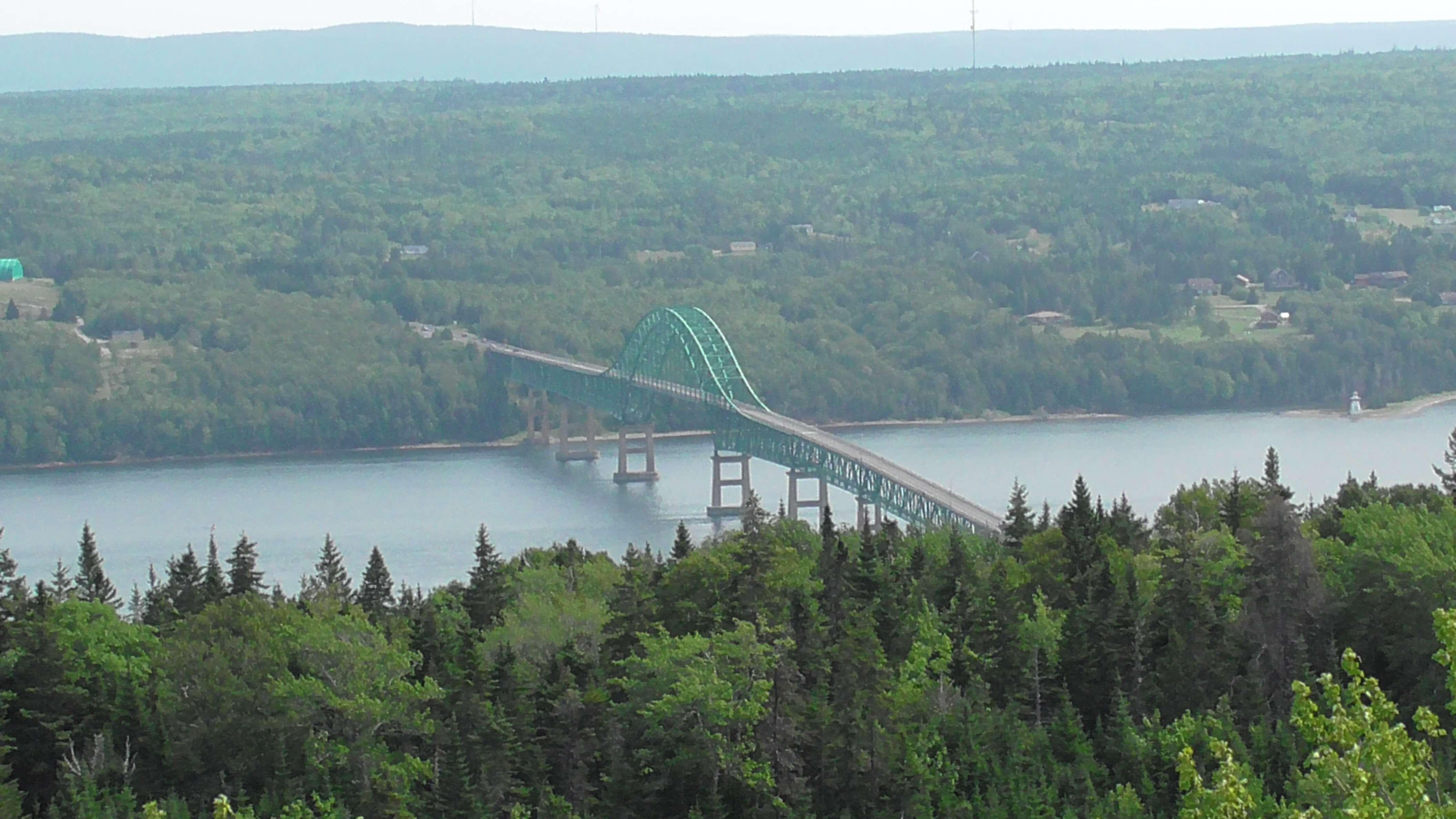 Bridge near east end of Cape Bretton Highlands National Park
