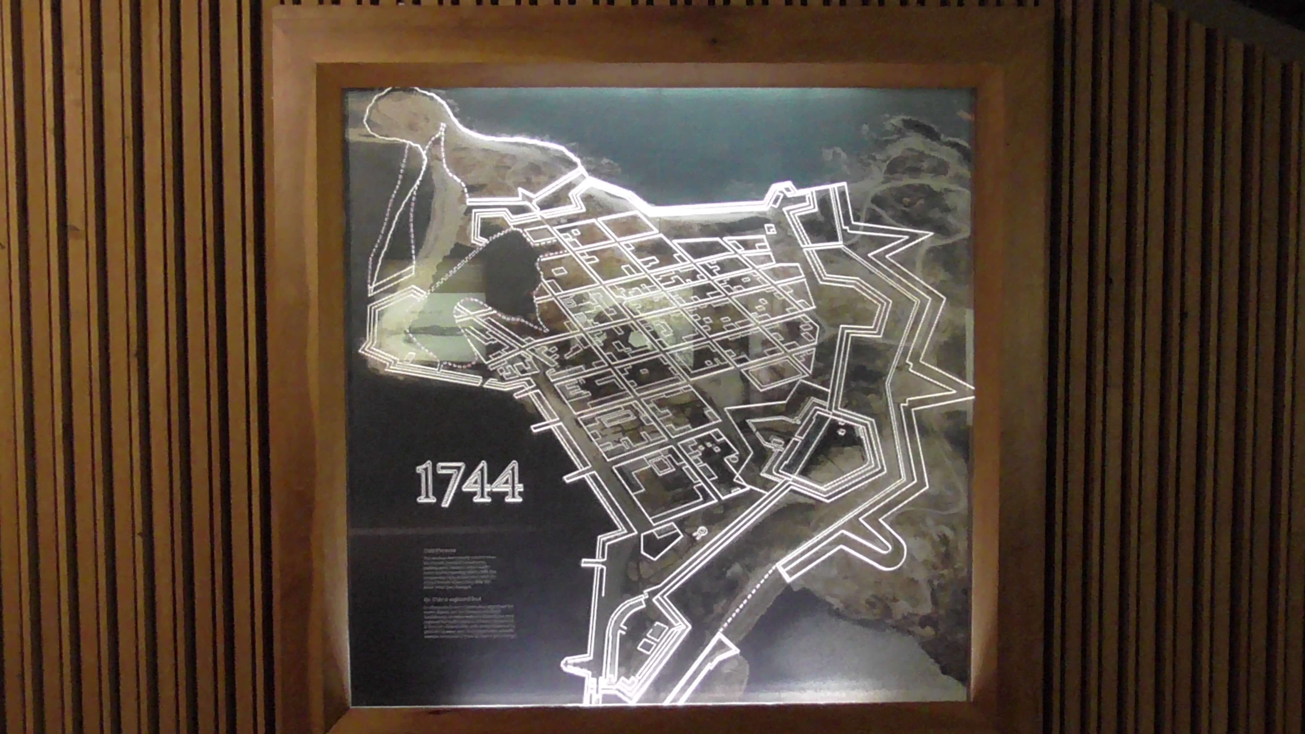 Fort Louisbourg Layout in 1744
