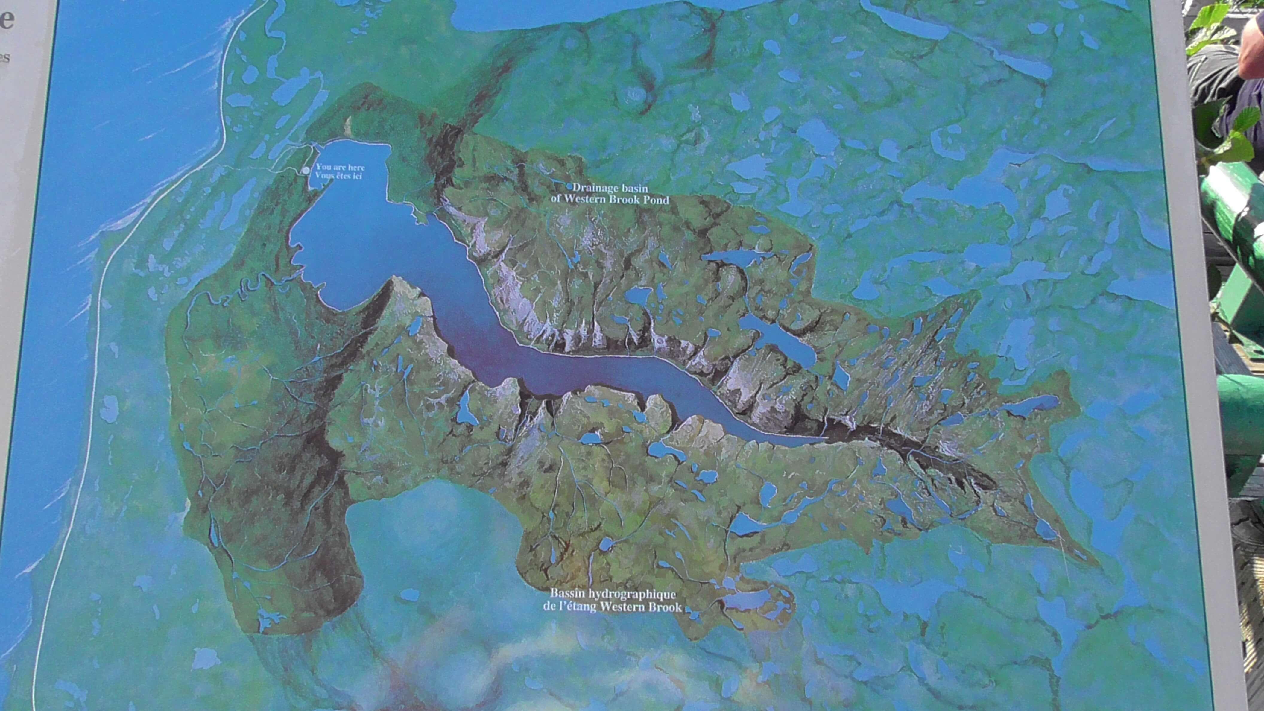 Model of West Brook Pond, Gross Morne National Park, Newfounland