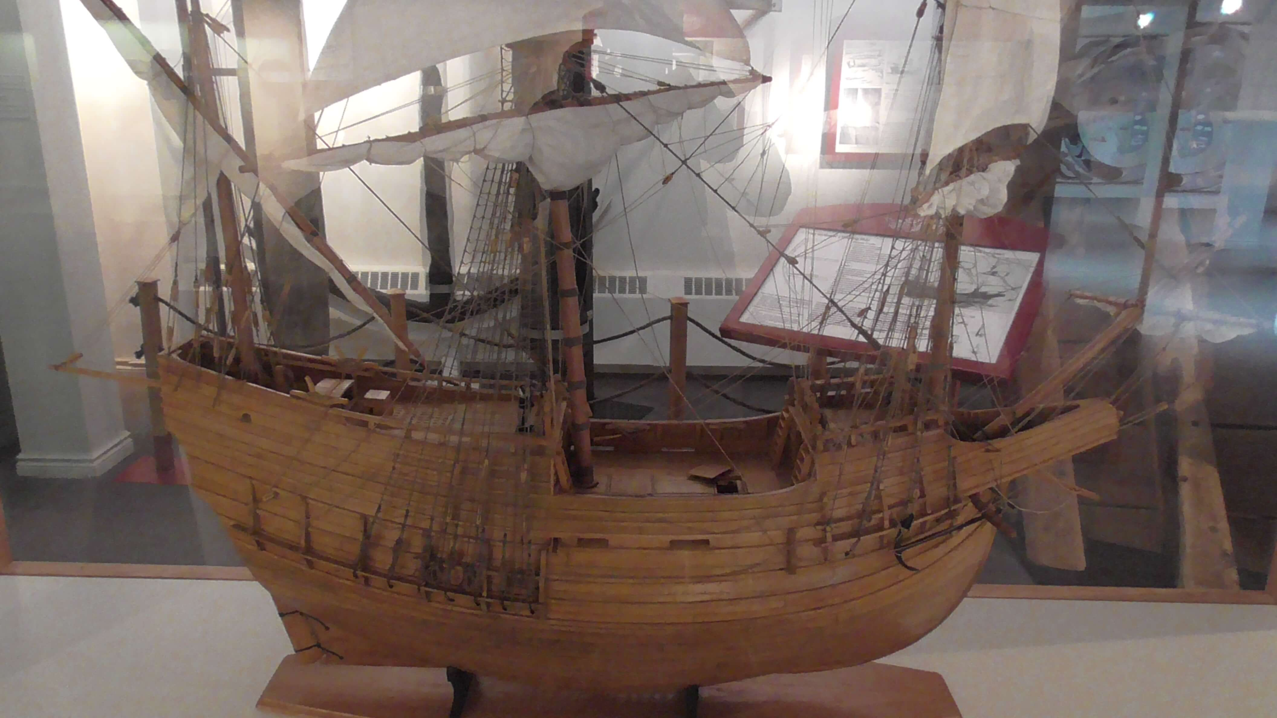 Model of 16th century whaling ship, Red Bay, Labrador