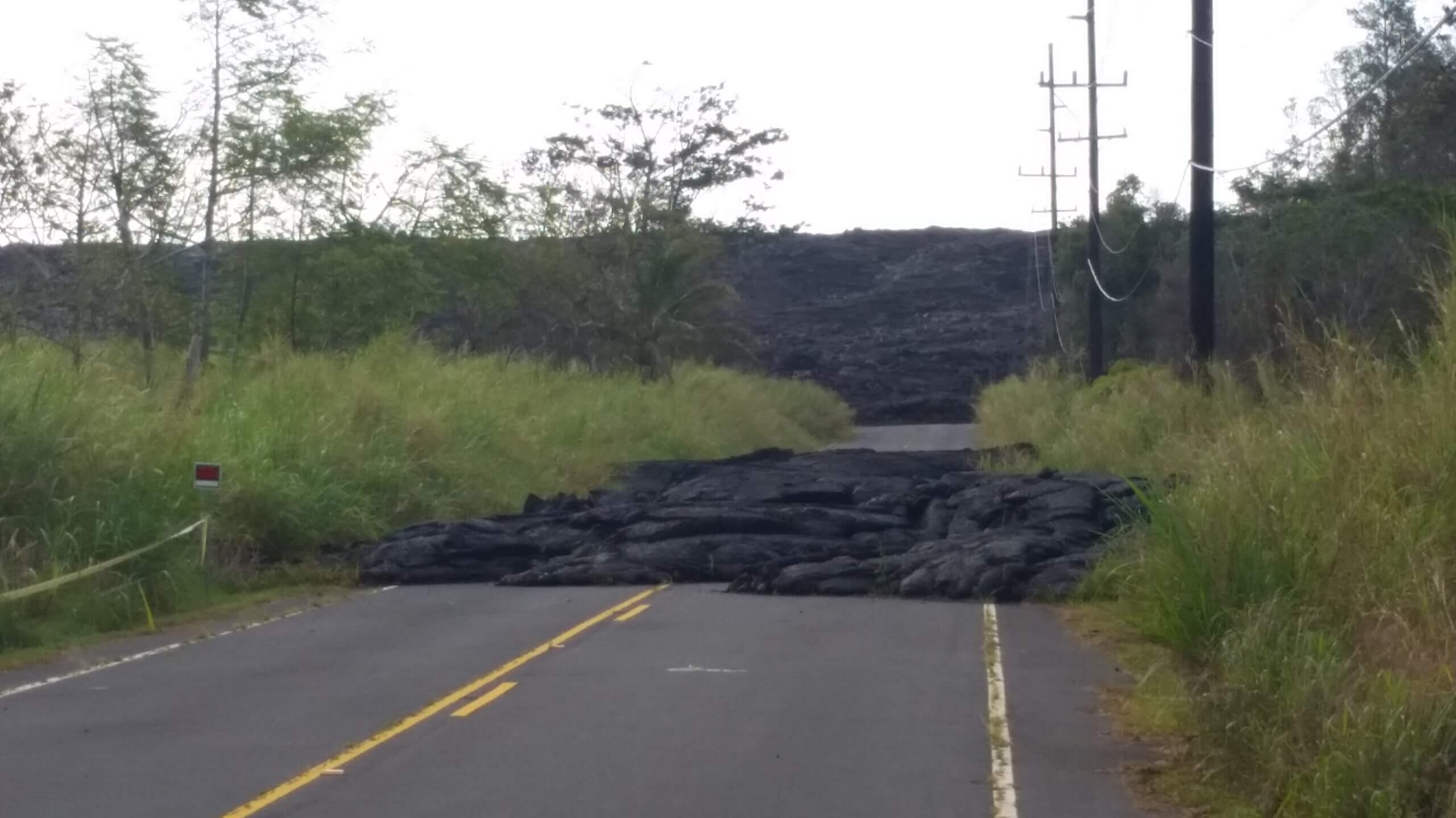 Lava across the road, Hawaii