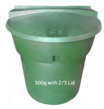300 Gallon with 2/3 Lid
