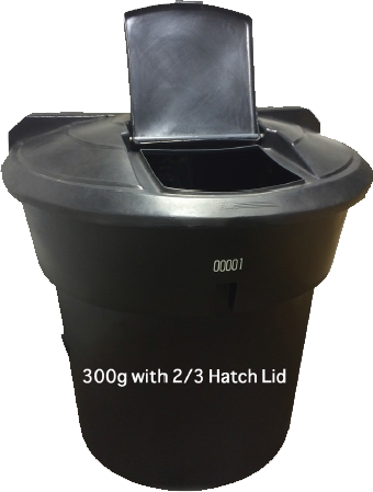 300 Gallon with 2/3 Hatch Lid