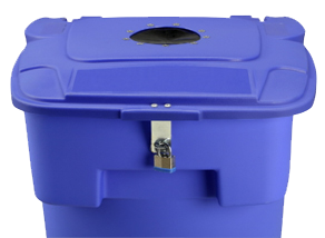 Paper Slot & Locking Lid For Secure Document Disposal