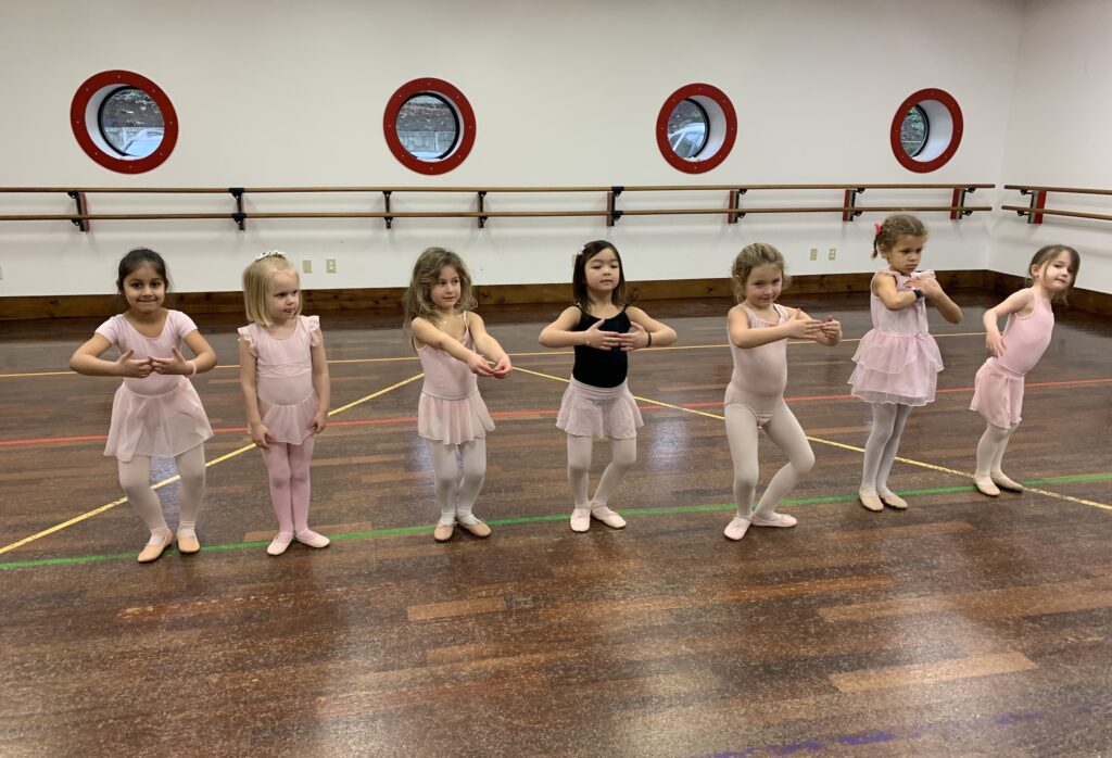 Young dancers perform creative movement.
