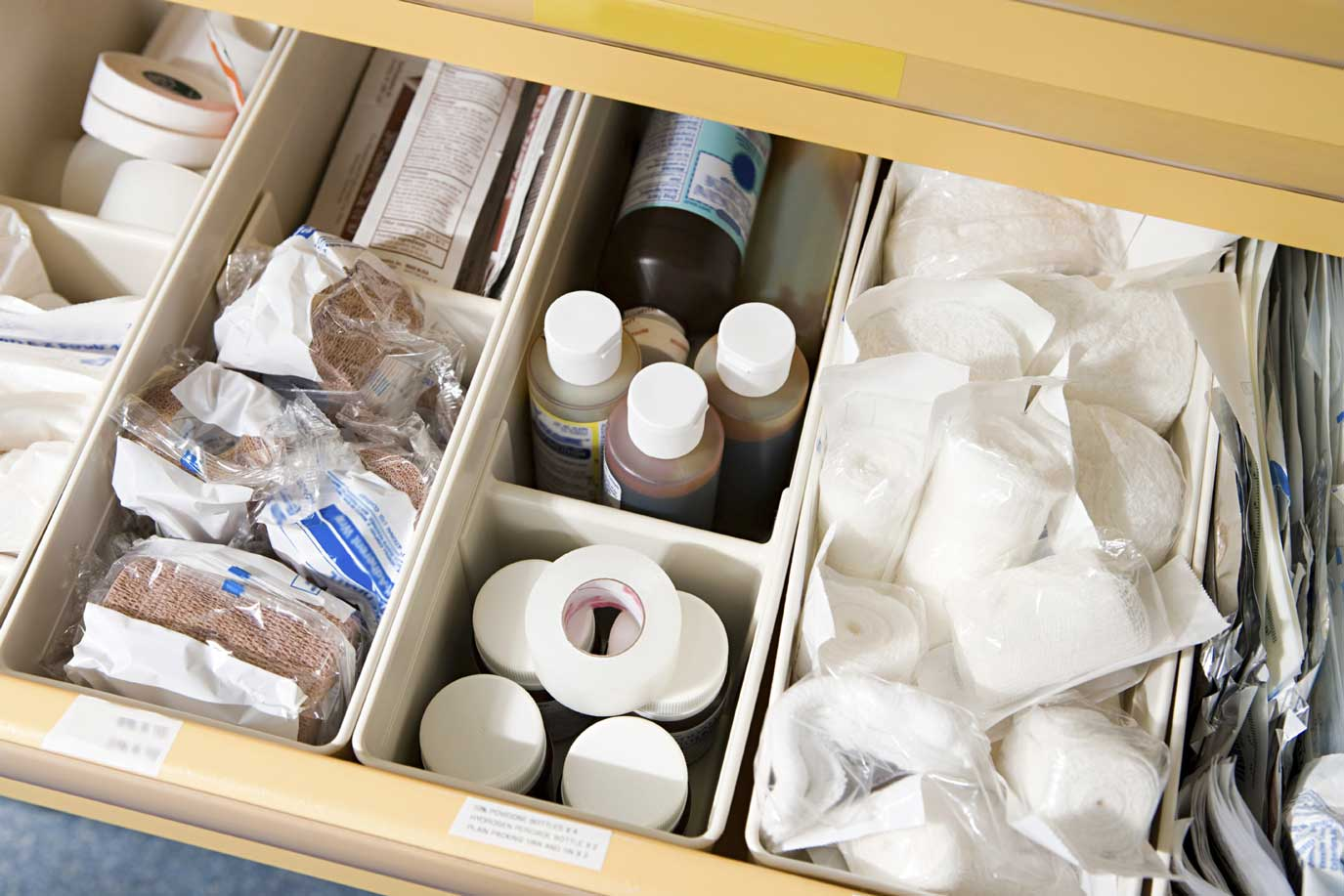Medical Products in drawer