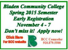 Bladen Community College Early Registration