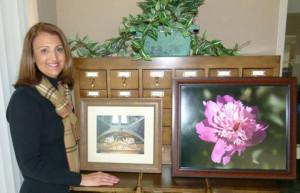 Diane Vitale with Art