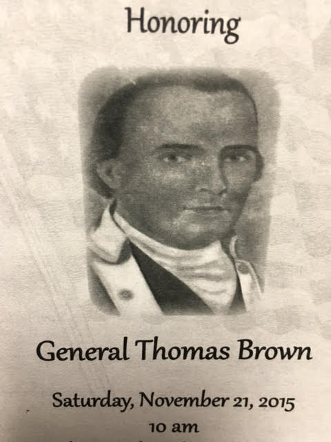 General Thomas Brown from Bladen County