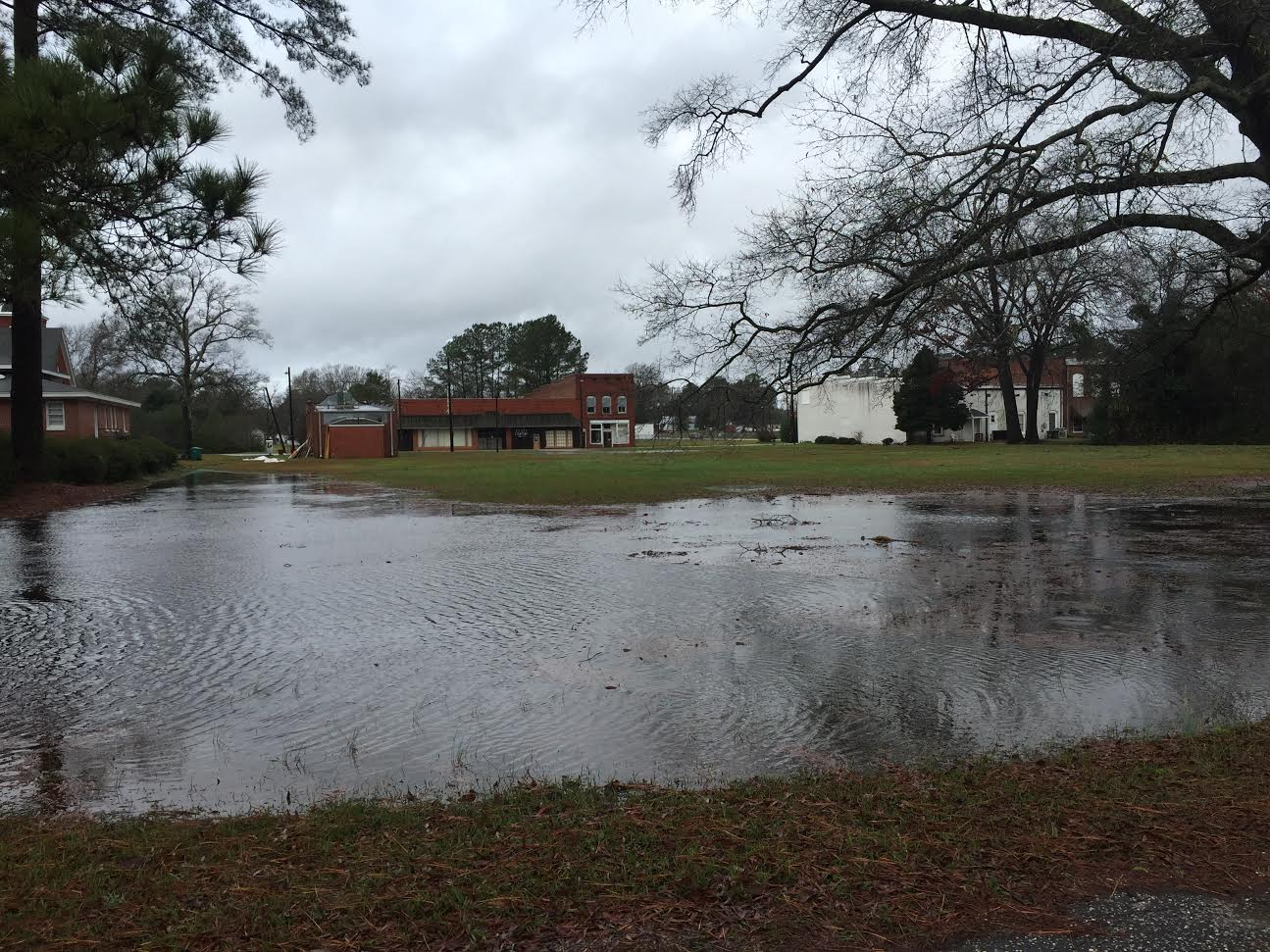 Heavy rain across the area leads to high water